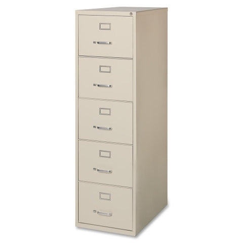 Lorell Commercial Grade 28.5'' Legal-size Vertical Files LLR88048, Putty (UPC:035255880480)