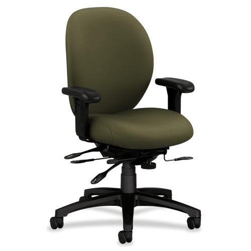 HON 7600 Series Mid-Back Chairs w/ Seat Glide HON7628CU82T, Green (UPC:631530289193)