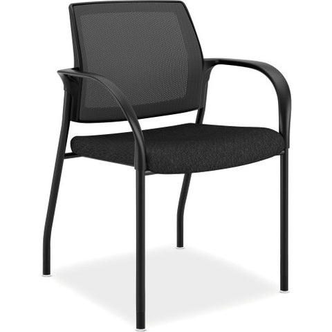 HON Mesh Back Multipurpose Stacking Chairs HONIS108NT10, Black (UPC:035349042893)
