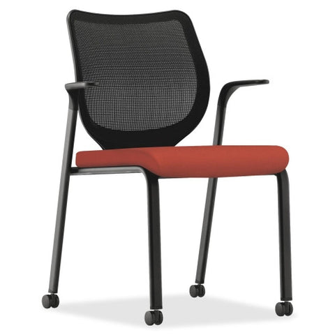 HON Nucleus Series ilira-stretch M4 Stacking Chair HONN606CU42, Red (UPC:782986051176)