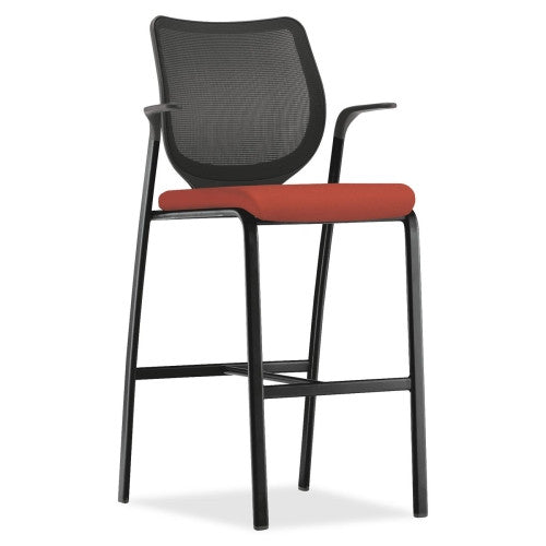 HON Nucleus Series Cafe-height Stool HONN709CU42, Black (UPC:782986042433)