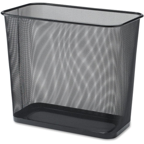 Lorell Black Mesh Rectangular Waste Bin ; UPC: 035255527712