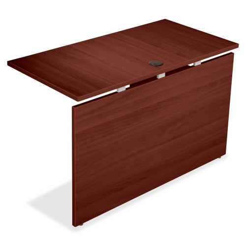 Lorell Concordia Series Mahogany Laminate Desk Ensemble ; UPC: 035255819435