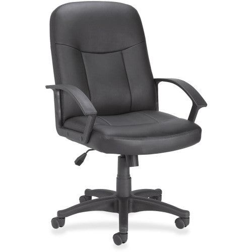 Lorell Leather Managerial Mid-back Chair ; UPC: 035255848695