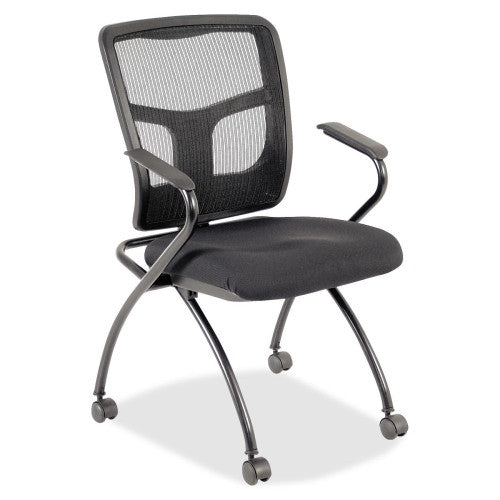 Lorell Mesh Back Fabric Seat Nesting Chairs ; UPC: 035255843744