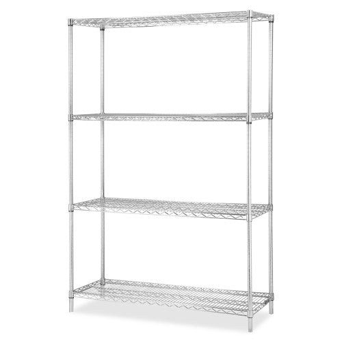 Lorell Industrial Chrome Wire Shelving Starter Kit ; UPC: 035255841870
