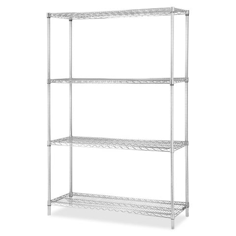 Lorell Industrial Chrome Wire Shelving Starter Kit ; UPC: 035255841788