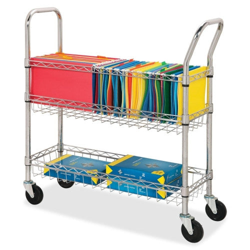 Lorell Wire Mail Cart ; UPC: 035255848572
