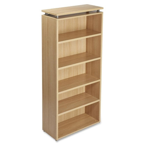 Lorell Concordia Series Laminate Latte 5-Shelf Bookcase ; UPC: 035255687249