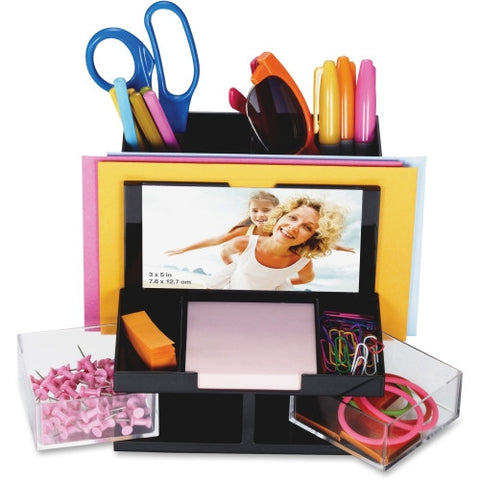 Officemate VersaPlus Functional Desk Organizer OIC23112, Black (UPC:042491231129)