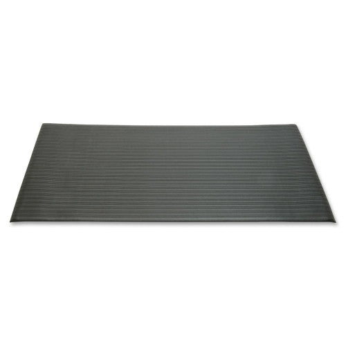 NIB Vinyl Ribbed Anti-fatigue Mat NSN6163624, Black (UPC:806229410077)