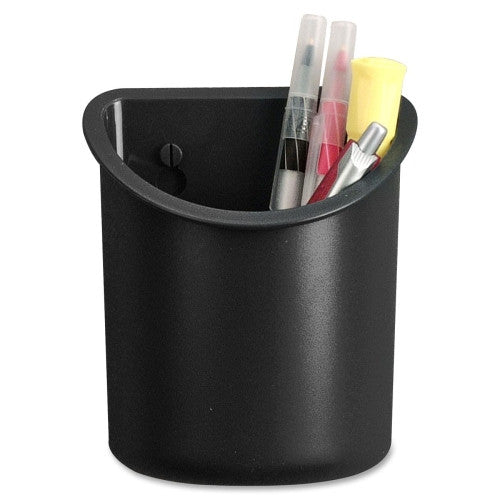 Lorell Recycled Plastic Mounting Pencil Cup ; UPC: 035255806688