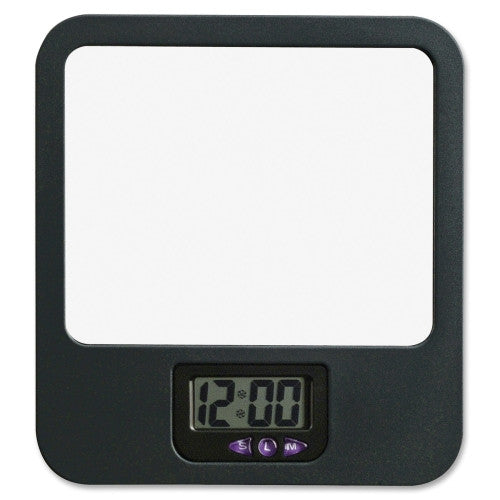 Lorell Fabric Panel Digital Clock Mirror ; UPC: 035255806701