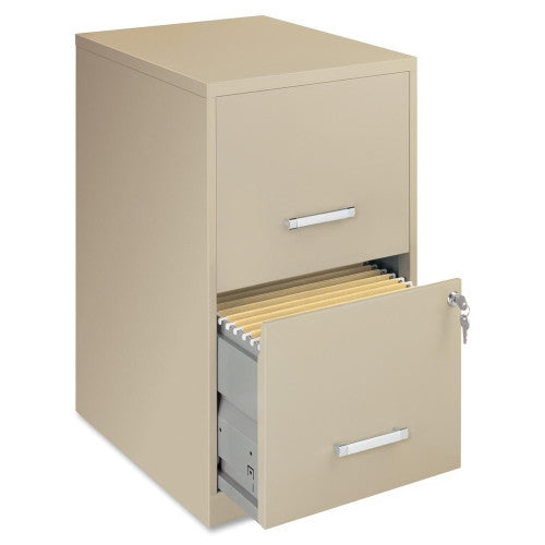 "Lorell SOHO 18"" 2-Drawer File Cabinet LLR14340, Putty (UPC:029404143403)"