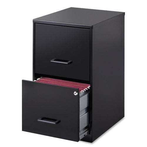 "Lorell SOHO 18"" 2-Drawer File Cabinet LLR14341, Black (UPC:029404143410)"