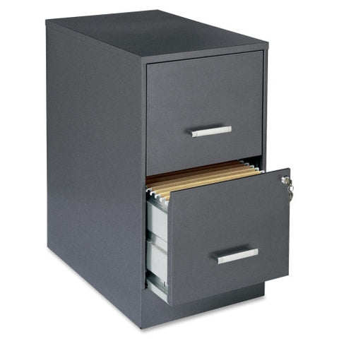 "Lorell SOHO 22"" 2-Drawer File Cabinet LLR16871, Gray (UPC:029404168710)"