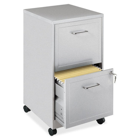 "Lorell_Lorell SOHO 18"" 2-Drawer Mobile Steel Locking File Cabinet_Gray / Quick Ship	 - 3"