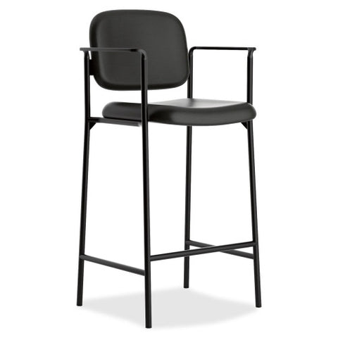 basyx by HON HVL636 Cafe-Height Stool BSXVL636SB11, Black (UPC:020459935005)