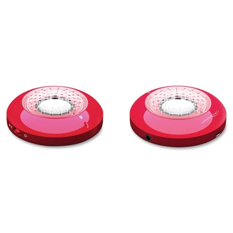 "Portable Bluetooth Speaker, 1 W, 3-1/2""x3-1/2""x7/10"", Red CCS50922 ; (794192509228)"