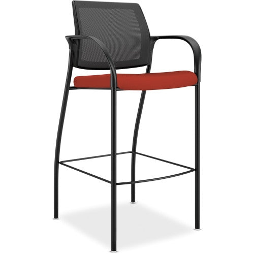 HON Ignition Cafe-height Stool HONIC108CU42, Red (UPC:035349545608)