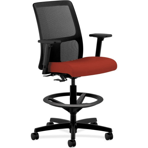 HON Ignition Series Mesh Back Task Stool HONIT108CU42, Red (UPC:791579065728)