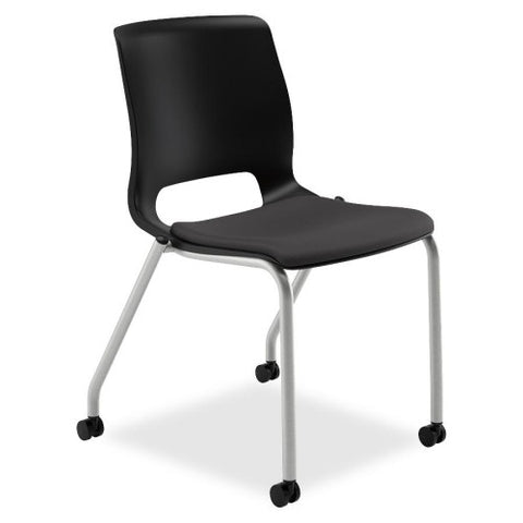 HON Motivate Stacking Chair HONMG201CU10, Black (UPC:035349672649)