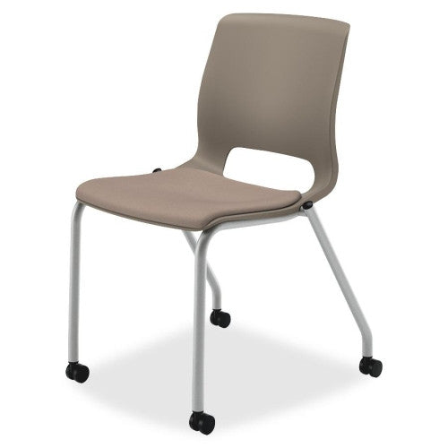 HON Motivate Stacking Chair HONMG201CU24, Brown (UPC:035349672656)