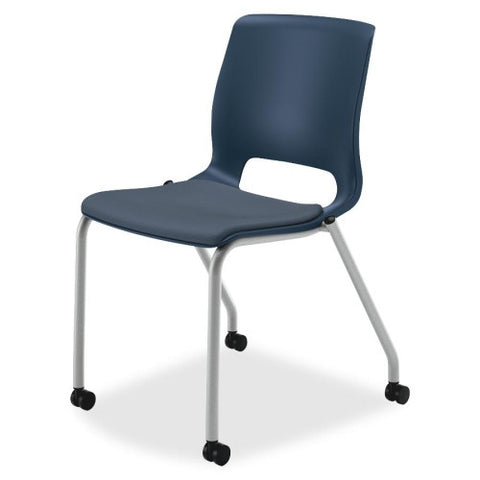 HON Motivate Stacking Chair HONMG201CU90, Black (UPC:035349672670)