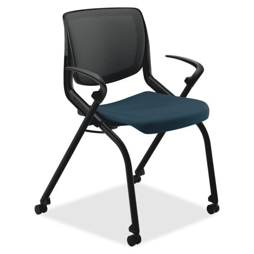 HON Motivate Nesting Stacking Chair HONMN202RECU90, Black (UPC:020459828437)