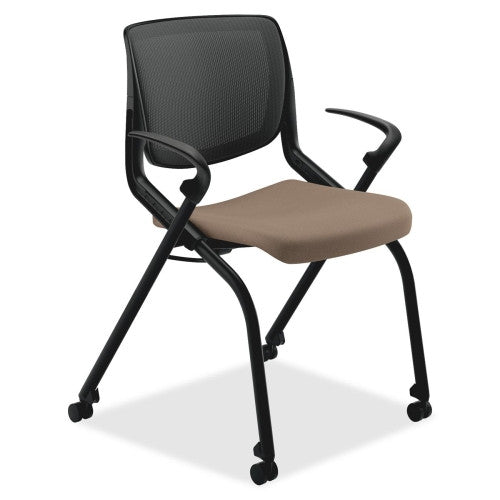 HON Motivate Nesting Stacking Chair HONMN202SDCU24, Brown (UPC:020459828536)
