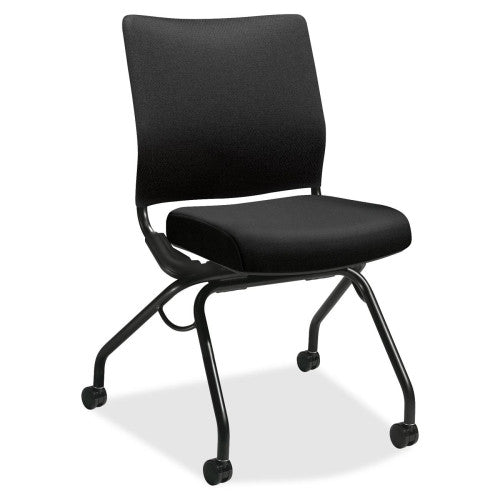 HON Perpetual Nesting Flex-back Armless Chair HONPN1ARBCU10T, Black (UPC:020459277594)