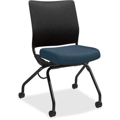HON Perpetual Nesting Flex-back Armless Chair HONPN1ARBCU90T, Black (UPC:089192829385)