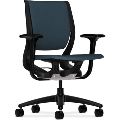 HON Purpose Mid-Back Chair ; Color: Cerulean/Onyx; UPC: 641128586054
