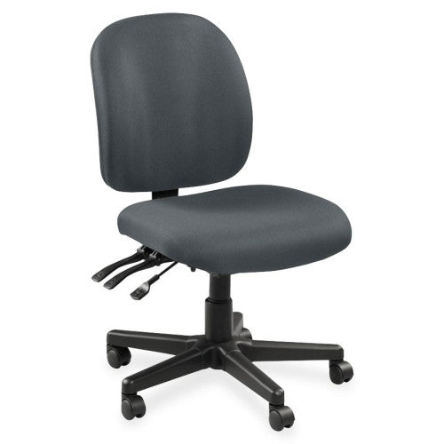 Lorell Mid-Back Task Chair w/o Arms LLR53101, Gray (UPC:035255531016)
