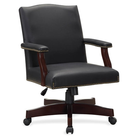 Lorell Traditional Executive Bonded Leather Chair ; UPC: 035255682503