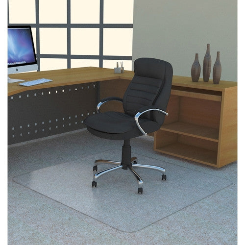 Lorell Polycarbonate Rectangular Studded Chair Mat ; UPC: 035255697040