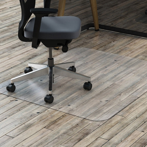 Lorell Rectangular Chairmat w/ot Lip LLR69707, Clear (UPC:035255697071)