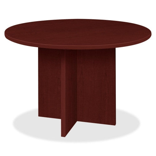 Lorell Prominence 79000 Series Mahogany Round Conference Table ; UPC: 035255791274