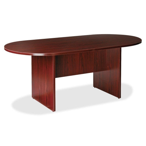Lorell Prominence 79000 Series Mahogany Round Conference Table LLR79128, Mahogany (UPC:035255791281)