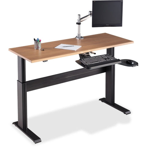 Lorell Height-adjustable Workstation Tabletop - Latte LLR81957, Beige (UPC:035255819572)