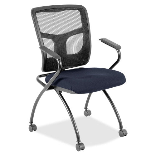 Lorell Mesh Back Fabric Seat Nesting Chairs ; UPC: 035255844734