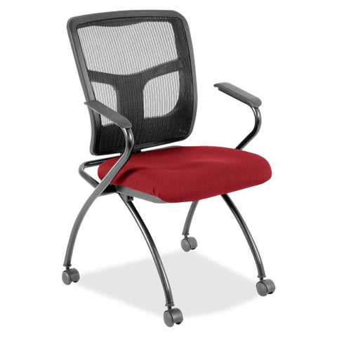 Lorell Mesh Back Fabric Seat Nesting Chairs ; UPC: 035255844741