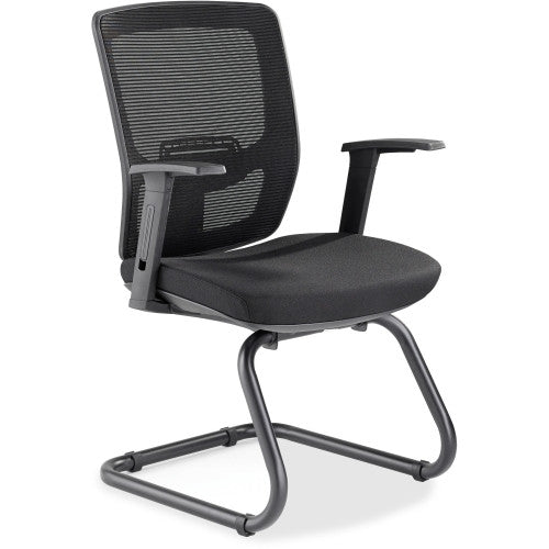 Lorell Variable-Resist Lumbar Guest Chair with Arms ; UPC: 035255845632