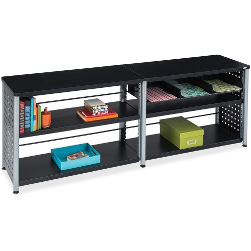 Safco Scoot Credenza Contemp Design Bookcase SAF1600BL, Black (UPC:073555160024)