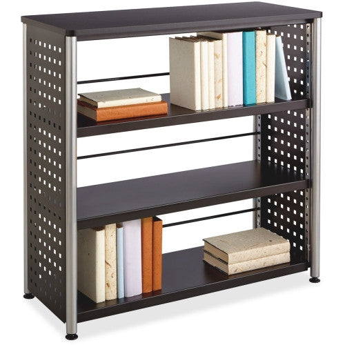 Safco Scoot Contemporary Design Bookcase SAF1602BL, Black (UPC:073555160222)
