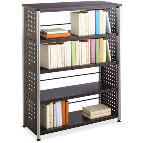 Safco Scoot Contemporary Design Bookcase SAF1603BL, Black (UPC:073555160321)