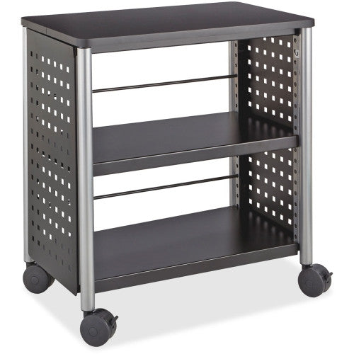 Safco Scoot Personal Contemporary Design Bookcase SAF1604BL, Black (UPC:073555160420)