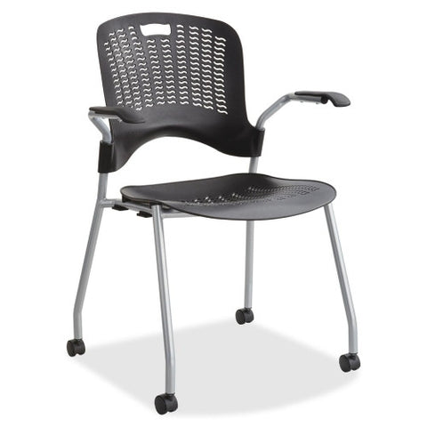 Safco Sassy Stack Chairs SAF4183BL, Black (UPC:073555418323)