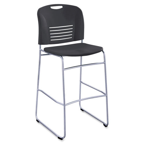 Safco Vy Sled Base Bistro Chair SAF4295BL, Black (UPC:073555429527)