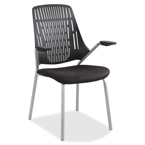 Safco Thrill Frameless Back Guest Chair SAF7044BL, Black (UPC:073555704426)